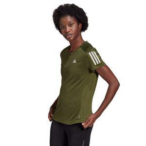 חולצת אימון אדידס לנשים Adidas Own The Run Tee - ירוק זית