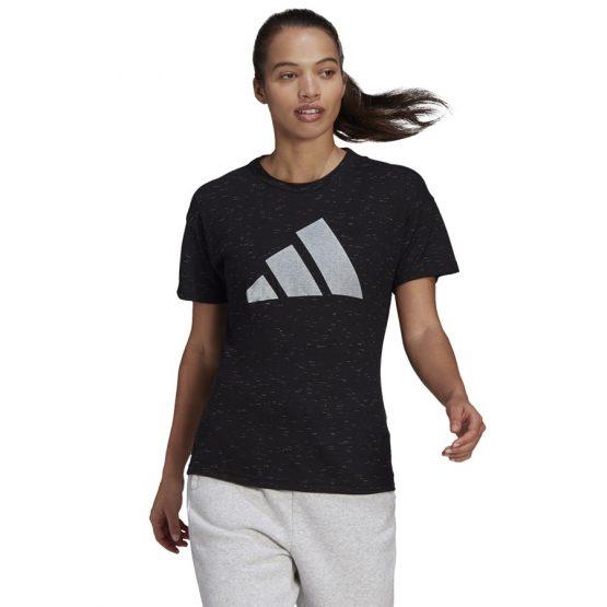 חולצת T אדידס לנשים Adidas Sportswear Winners 2.0 - שחור