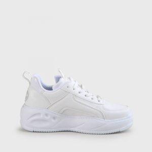 נעלי סניקרס Buffalo לנשים Buffalo Flat SMPL 2.0 Vegan - לבן