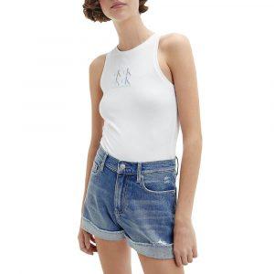 גופיה קלווין קליין לנשים Calvin Klein Organic Cotton Logo - לבן