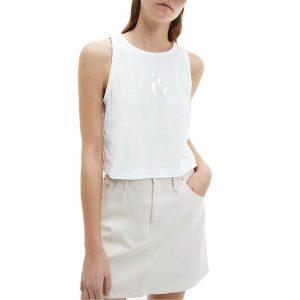 גופיה קלווין קליין לנשים Calvin Klein Tonal Monogram Tank - לבן