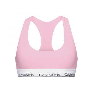 טופ וחולצת קרופ קלווין קליין לנשים Calvin Klein Unlined Bralette - ורוד