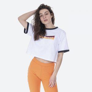 חולצת T אלסה לנשים Ellesse Tide Crop - לבן