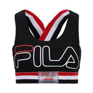 טופ וחולצת קרופ פילה לנשים Fila Logo Sport - שחור