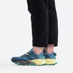 נעלי ריצה הוקה לנשים Hoka One One Speedgoat 4 - כחול כההצהוב