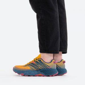 נעלי ריצה הוקה לנשים Hoka One One Speedgoat 4 - צהוב