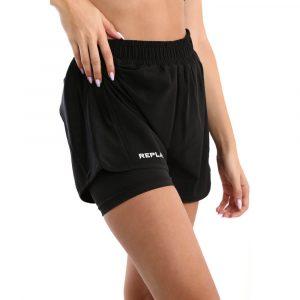 מכנס ספורט ריפליי לנשים REPLAY Ladies Shorts - שחור