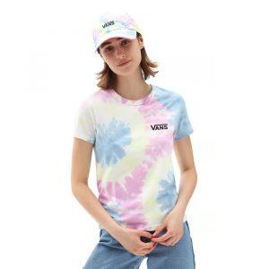 חולצת T ואנס לנשים Vans Spiraling Wash - צבעוני בהיר