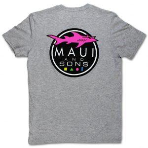 חולצת T מאוואי לגברים MAUI SHARK LOGO - אפור בהיר
