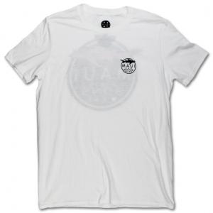 חולצת T מאוואי לגברים MAUI SHARK LOGO - לבן