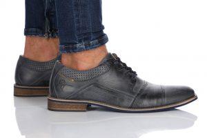 נעלי אלגנט בולבוקסר לגברים Bullboxer Alberto - כחול כהה