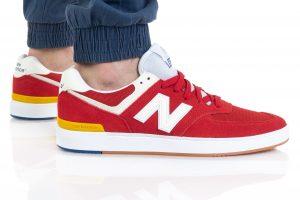 נעלי סניקרס ניו באלאנס לגברים New Balance AM574 - אדום