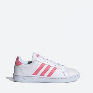 נעלי סניקרס אדידס לנשים Adidas Grand Court - ורוד/לבן