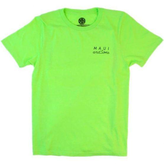 חולצת T מאוואי לגברים MAUI NEON COOKIE LOGO - ירוק