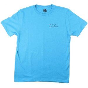 חולצת T מאוואי לגברים MAUI NEON COOKIE LOGO - כחול
