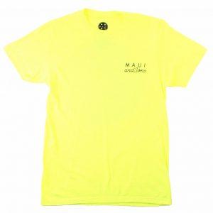חולצת T מאוואי לגברים MAUI NEON COOKIE LOGO - צהוב