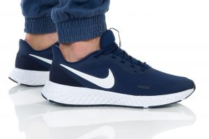 נעלי ריצה נייק לגברים Nike REVOLUTION 5 - לבן/כחול