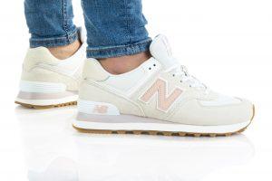 נעלי סניקרס ניו באלאנס לנשים New Balance WL574 - לבן/כתום