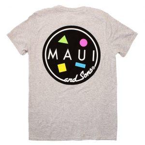 חולצת T מאוואי לגברים MAUI CLASSIC COOKIE LOGO - אפור בהיר