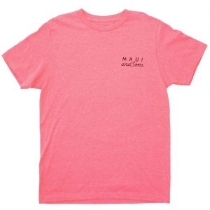 חולצת T מאוואי לגברים MAUI NEON COOKIE LOGO - ורוד