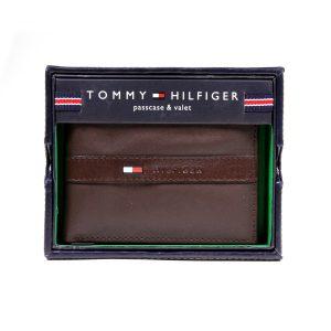 ארנק טומי הילפיגר לגברים Tommy Hilfiger Ranger - חום כהה