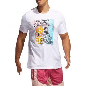 חולצת T אדידס לגברים Adidas Harden Avatar Scooter - לבן
