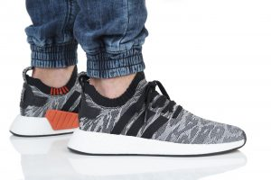 נעלי סניקרס אדידס לגברים Adidas NMD_R2 PK - צבעוני כהה