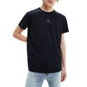 חולצת T קלווין קליין לגברים Calvin Klein CK Sliced Back Graph - שחור