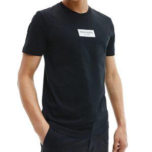 חולצת T קלווין קליין לגברים Calvin Klein Chest Box Logo - שחור