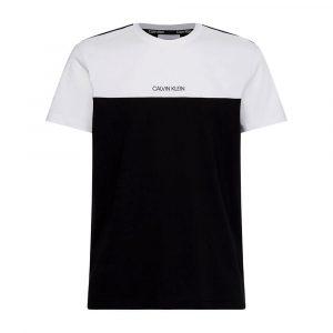 חולצת T קלווין קליין לגברים Calvin Klein Color Block Tee - שחור/לבן
