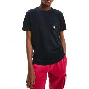 חולצת T קלווין קליין לגברים Calvin Klein Monogram Pocket - שחור