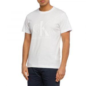 חולצת T קלווין קליין לגברים Calvin Klein Monogram Waterbas - לבן