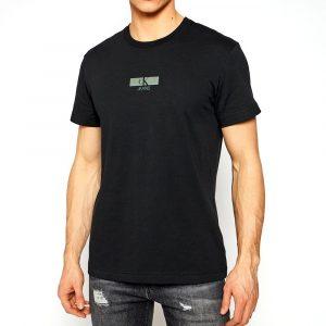 חולצת T קלווין קליין לגברים Calvin Klein URBAN IRIDESCENT - שחור