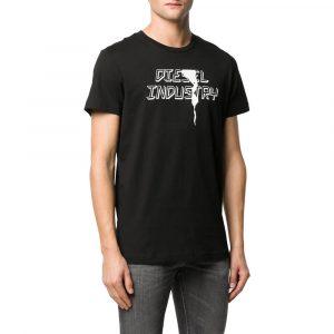 חולצת T דיזל לגברים DIESEL Graphic Print - שחור