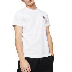 חולצת T דיזל לגברים DIESEL Logo Patch - לבן