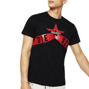 חולצת T דיזל לגברים DIESEL T-Diego-A7 - שחור