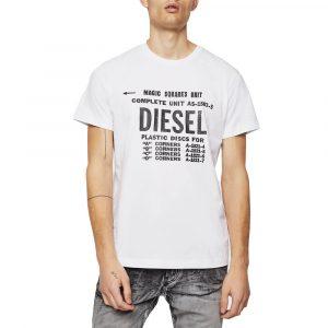 חולצת T דיזל לגברים DIESEL T-Diego B6 - לבן