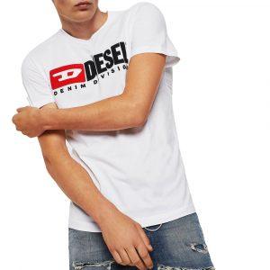 חולצת T דיזל לגברים DIESEL T-Diego Division - לבן