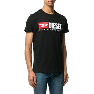 חולצת T דיזל לגברים DIESEL T-Diego Division - שחור