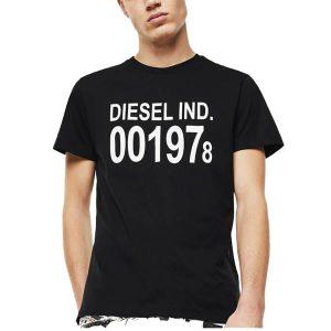 חולצת T דיזל לגברים DIESEL T-Diego Logo Print - שחור