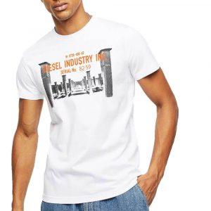 חולצת T דיזל לגברים DIESEL T-Diego-S13 - לבן