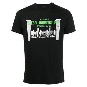 חולצת T דיזל לגברים DIESEL T-Diego-S13 - שחור