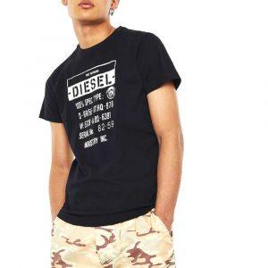 חולצת T דיזל לגברים DIESEL T-Diego-S1 - שחור