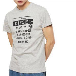חולצת T דיזל לגברים DIESEL T-Diego-S1 - אפור