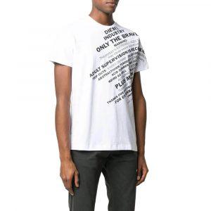 חולצת T דיזל לגברים DIESEL T-Diego-S3 - לבן