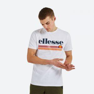 חולצת T אלסה לגברים Ellesse Caciot Tee - לבן הדפס