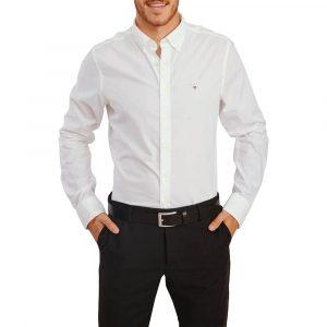 חולצה מכופתרת גאנט לגברים GANT Broadcloth - לבן