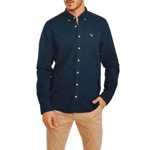 חולצה מכופתרת גאנט לגברים GANT Broadcloth - כחול כהה