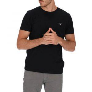 חולצת T גאנט לגברים GANT The Original - שחור