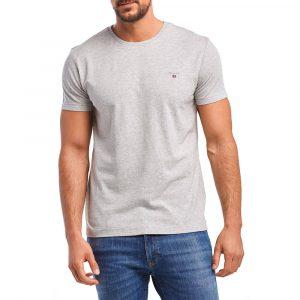 חולצת T גאנט לגברים GANT The Original - אפור